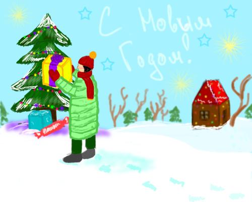 конкурс рисунков новогодняя сказка